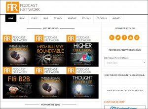 The new FIR Podcast Network's home page