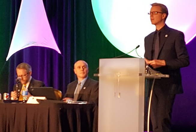 IABC's 2015-16 Chair Michael Ambjorn discusses his vision for his term during the Annual General Meeting in San Francisco on June 17.