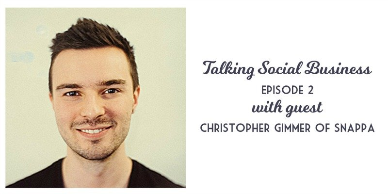 Talking Social Business Podcast 002 with host Krishna De and guest Christopher Gimmer of Snappa