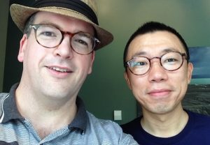 Simon Young, host of the Digital China Podcast, and Justin Zhang, founder of SkyKiwi
