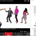 Creators and media stars dancing